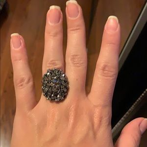Black/charcoal costume jewelry ring